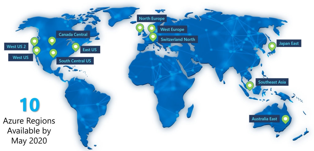 Azure VMware Solutions Regions 2020