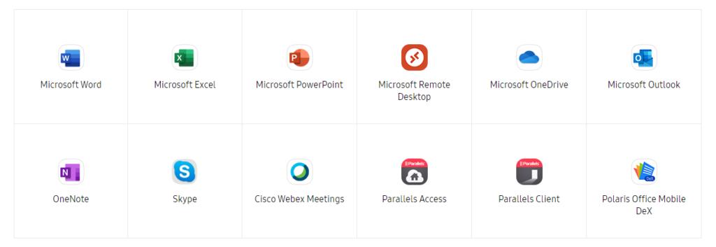 Samsung DeX Support Apps