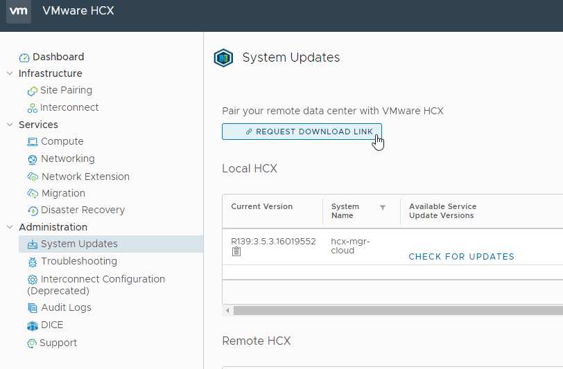 HCX Interconnect Appliance Download Link