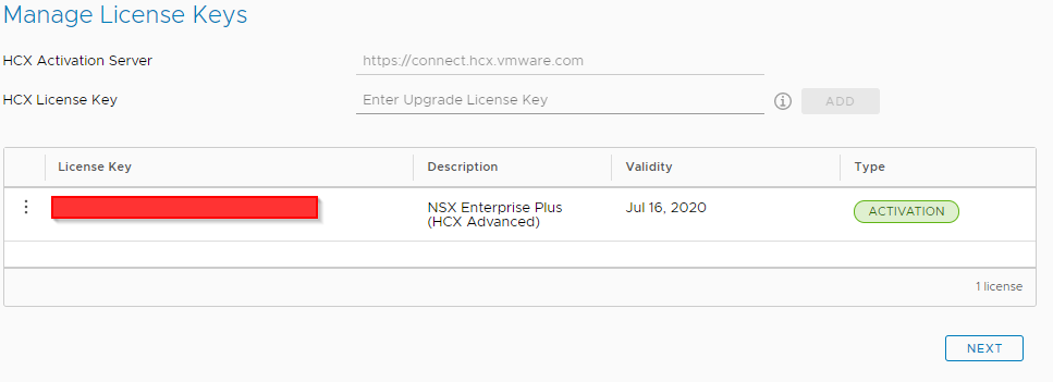 HCX Connector Advanced License